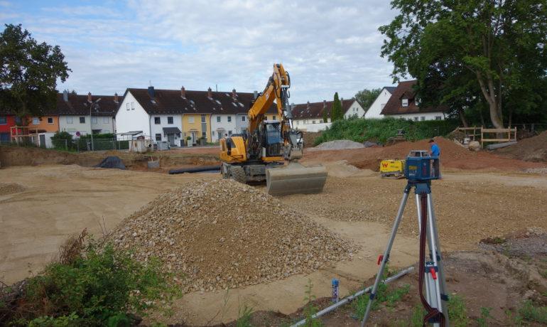 Die Baustelle hat begonnen