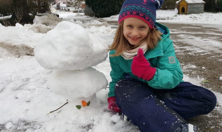 Lockdown: Wir bauen Schneemänner